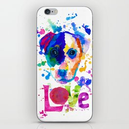 Doggy - love iPhone Skin
