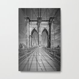 NEW YORK CITY Brooklyn Bridge Metal Print