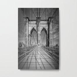 NEW YORK CITY Brooklyn Bridge Metal Print