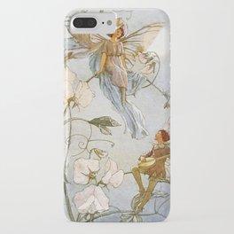 """Fairies Mid Sweet Peas"" by Margaret Tarrant iPhone Case"