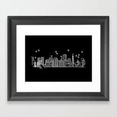 San Francisco, California City Skyline Framed Art Print