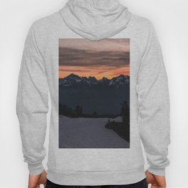 Rising Sun in the Cascades - nature photography Hoody