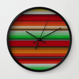Mexican serape #6 Wall Clock