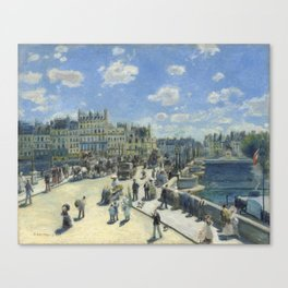 Auguste Renoir Pont Neuf, Paris 1872 Painting Canvas Print