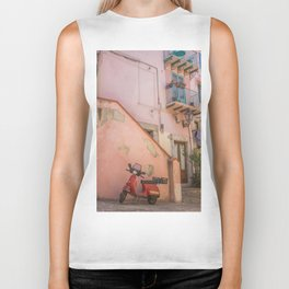 Red Scooter in Sicily Biker Tank