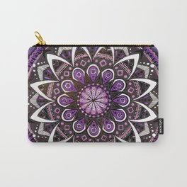 Crown Chakra Purpe Mandala Carry-All Pouch