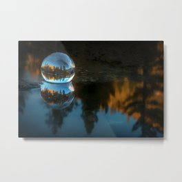 Refraction and Reflection Meet  Castle Lake reflections on the water Metal Print