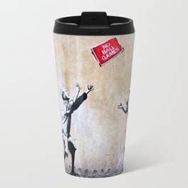 Banksy, Ball Games Travel Mug
