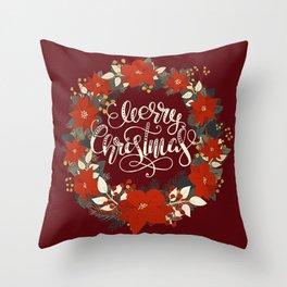 Christmas Greetings 5 Throw Pillow
