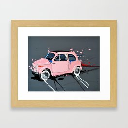 The pink lady Framed Art Print