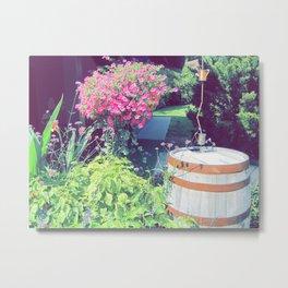 Barrel & Flowers Metal Print