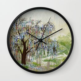 Willow Tree Abstract digital art  composition Wall Clock