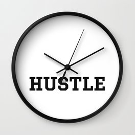 Hustle - Motivation Wall Clock