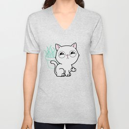 Kitty Knows Sign Language Unisex V-Neck