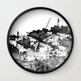 Telegraph Hill Print Black and Grey Wall Clock