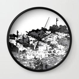 Telegraph Hill Print Black and Grey Wall Clock