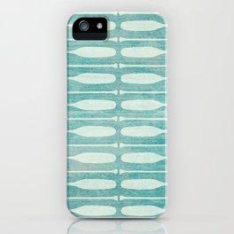 Vintage Coast Boat Paddles iPhone Case