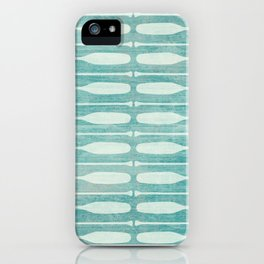Vintage Coast Boat Paddles iPhone Case