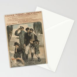 Vintage First World War Poster - Charity Matineé in Favor of Widows and Orphans (1917) Stationery Cards