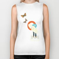 surfer Biker Tanks featuring Surfer by Prints der Nederlanden