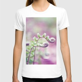 Ferns in Green, Purple, and Pink T-shirt