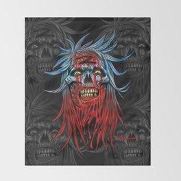 """Zombie - Blue """"Z"""" Head Throw Blanket"""