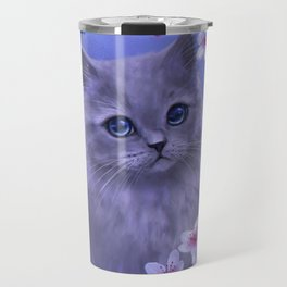 Spring kitten Travel Mug