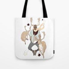 Comet and Deer Tote Bag