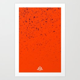 Trail Status / Orange Art Print