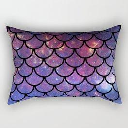 Galaxy Fish Scales Pattern Rectangular Pillow