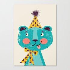 Blue-beary Canvas Print