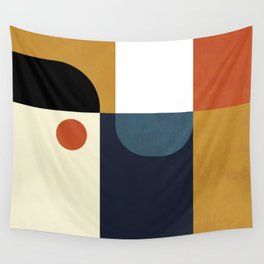 mid century abstract shapes fall winter 4 Wall Tapestry