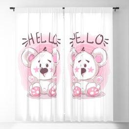 Cutiest Teddy Bear Blackout Curtain