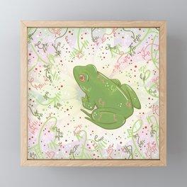 Little Frog Framed Mini Art Print