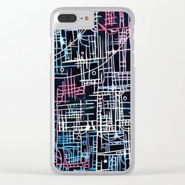 Lines no.1 Clear iPhone Case