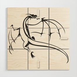 A simple flying dragon Wood Wall Art