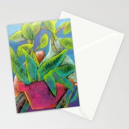Misty Potted Plant Stationery Cards