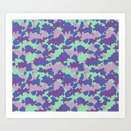 Camouflage Blot Art Print