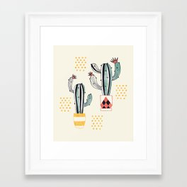 Cactus in a Pot Framed Art Print