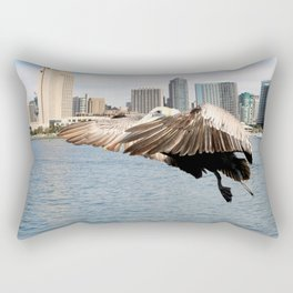 Pelican Ready To Land Rectangular Pillow