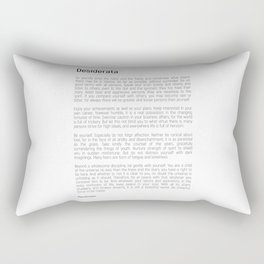 Desiderata #minimalism Rectangular Pillow