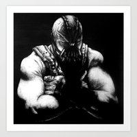 bane Art Prints featuring Bane by NickHarriganArtwork