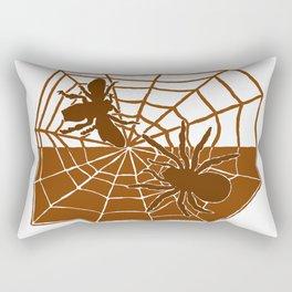Confrontation. Brown Rectangular Pillow