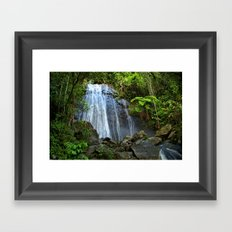 Yunque Waterfall Framed Art Print