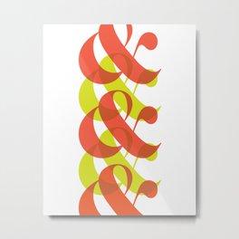 Colorful Ampersand Metal Print