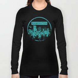 I Am Dayton - City Splatter - Green Long Sleeve T-shirt