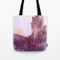 castle Tote Bags featuring Castle by Nechifor Ionut