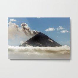 Explosive-effusive eruption of Klyuchevskoy Volcano on Kamchatka Peninsula Metal Print