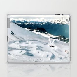 Snowy life on slope under T-bar lifts Laptop & iPad Skin