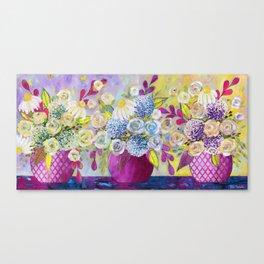 3 vases ry Canvas Print